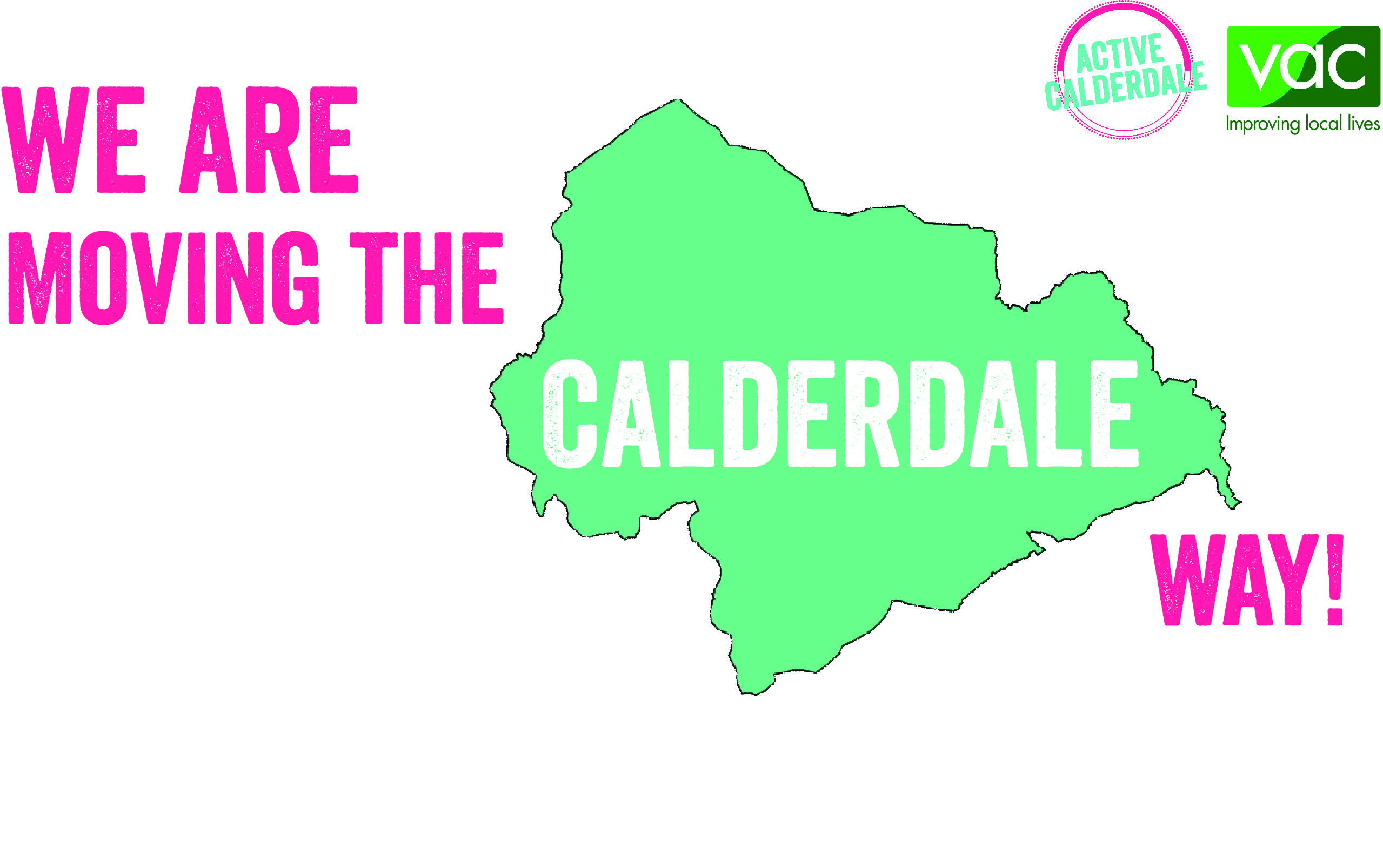 Move the Calderdale Way logo - 'We are moving the Calderdale way'