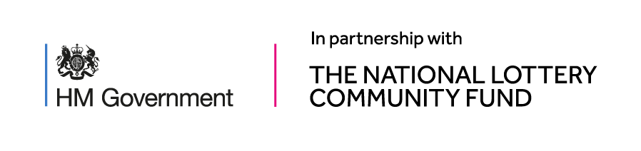 Logo for the government and the National Lottery Community Fund